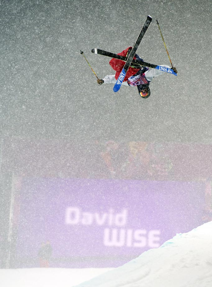 Wise soared through snow and sleet, and waterlogged conditions, to win another gold for the U.S.