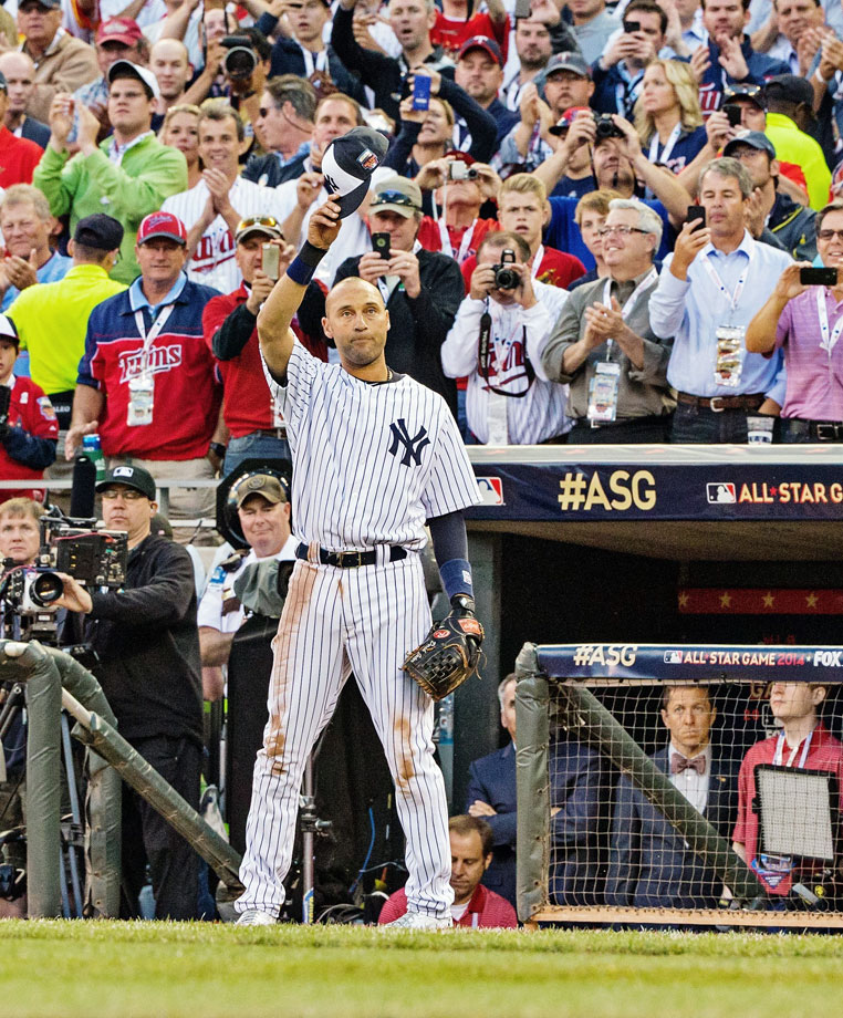 "The 2014 All-Star Game in Minnesota was about the Yankees' shortstop more than anything else.  There was the voice of Bob Sheppard announcing Jeter's at-bats; there was ""New York, New York"" blaring over the stadium speakers; there were ovations you could hear all the way in Kalamazoo.  Before his 14th and final All-Star Game, Jeter told his teammates ""Remember every time you put your uniform on,"" Jeter said as he stood in front of his locker, ""because trust me, it goes quickly.""  The Yankees' captain went 2-for-2 with a run scored in the 5-3 AL win."