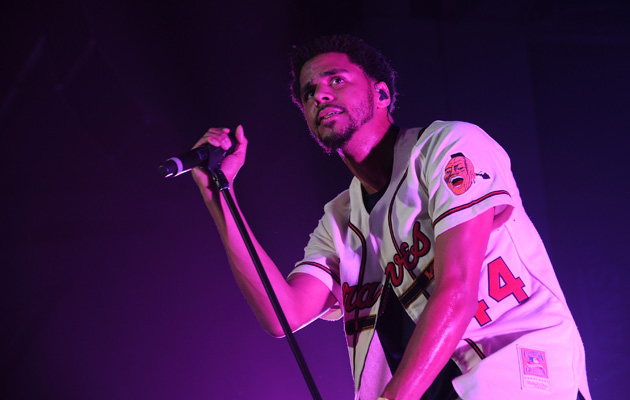 J. Cole performs at the Dew Tour Brooklyn Kickoff Party.