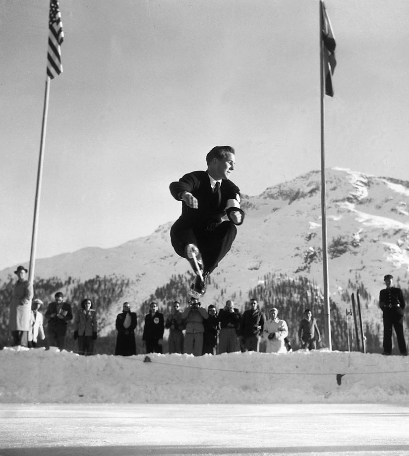In addition to winning two back-to-back Olympic titles, Dick Button has the distinction of being the first skater to land a double axel and a triple jump in competition. He also invented the flying camel spin. Button's list of skating titles goes on and on and includes seven national, three North American, a European and five world titles. --  Pj Kwong (SEE THE COMPLETE LIST OF 50 AT THEACTIVETIMES.COM)