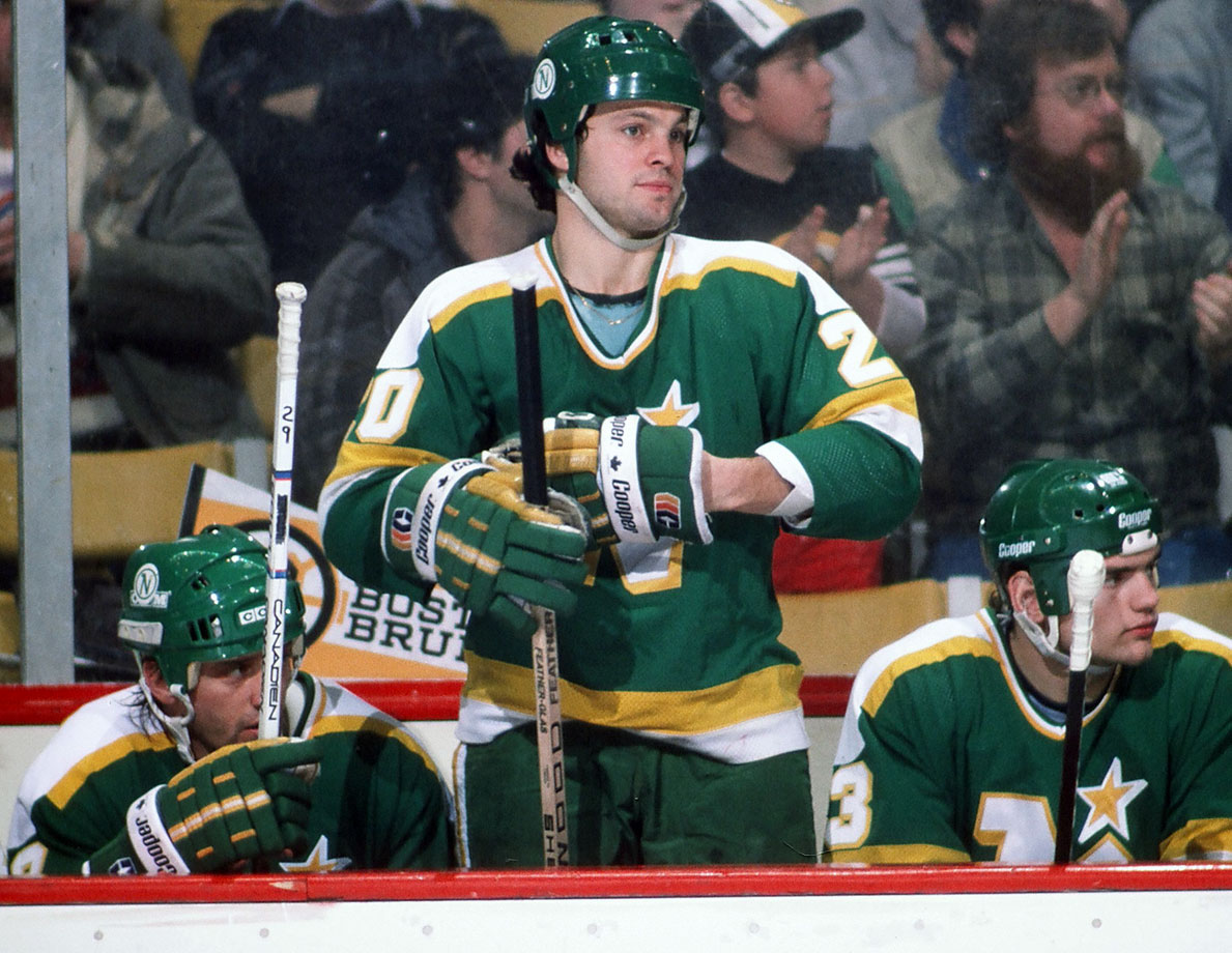 The Minnesota North Stars winger was nabbed in November 1987 when he took a stroll to fetch the newspaper outside his home in Minneapolis while wearing only a sweater. A female neighbor did not find he view to be particularly heartwarming and called the cops. He was given a year's probation and community service. In January 1988, he became the first NHL player to be arrested for an on-ice assault, after clubbing Luke Richardson of the Maple Leafs with a stick. He was found guilty, spent a day in jail and paid a $1,000 fine on top of a 10-game suspension by the league.