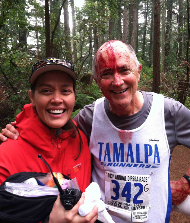 Nine-time Black Shirt winner Frazier was pulled from the 2013 Dipsea after losing a battle with a low-hanging tree branch.