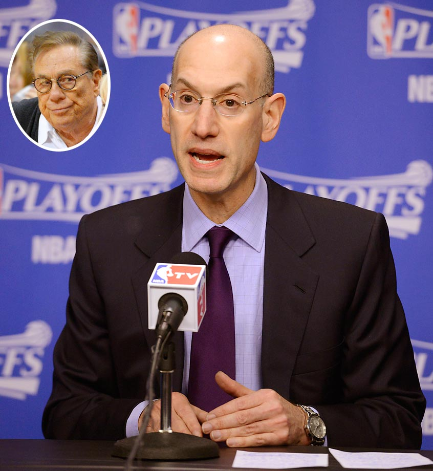 After the public release of an audio recording between Clippers owner Donald Sterling expressing racist views to his girlfriend, V. Stiviano, NBA commissioner Adam Silver moved swiftly on a league ruling. After an investigation, Silver and the NBA banned Sterling from the league for life, also fining him $2.5 million with a plan to have owners vote to remove him from ownership of the team.