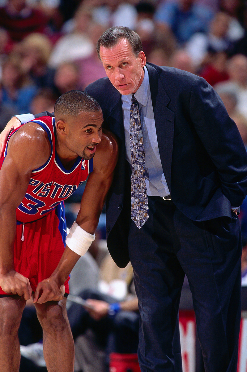 Doug Collins and Grant Hill (1996) :: Getty Images