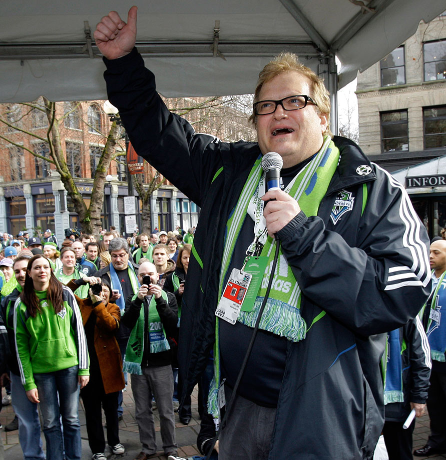 """Though he swears allegiance to his hometown, Cleveland, Carey became minority owner of the MLS expansion Seattle Sounders in 2007. The host of """"The Price Is Right"""" shares ownership of the team with Hollywood producer Joe Roth, Seattle businessman Adrian Hanauer and Microsoft co-founder Paul Allen."""