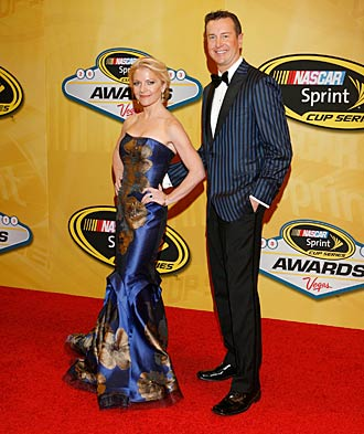 Busch and Patricia Driscoll attended NASCAR's postseason bash in Las Vegas last year.