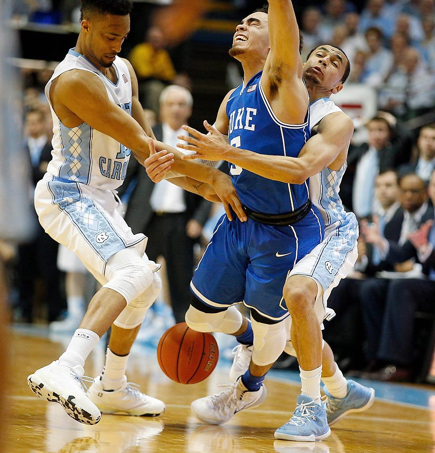 North Carolina plays some frisky defense against Duke.