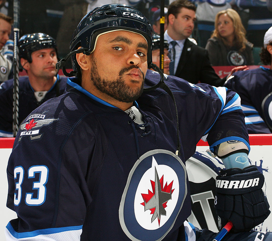 The Winnipeg Jets blueliner was busted for suspicion of operating a motorboat on Lake Minnetonka in Minnesota while under the influence. In July 2012, he reached a pre-trial agreement: a plea of guilty to a charge carrying a $1,000 fine and a sentence of 30 days that was reduced to two, which he spent doing garbage pickup and other productive but menial jobs.