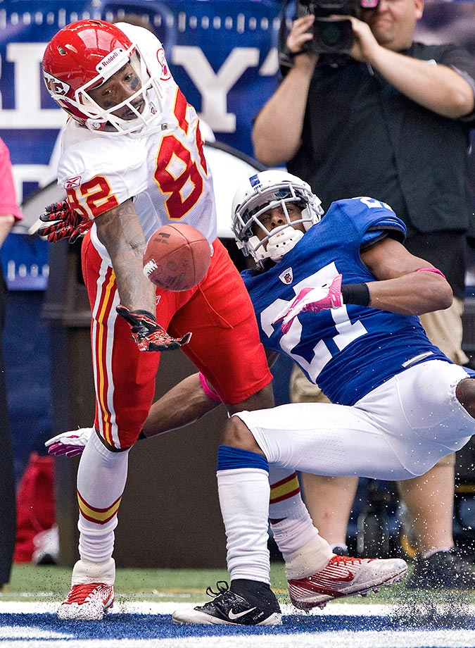 2011: Chiefs' Dwayne Bowe's juggling one-handed TD catch vs. Indianapolis.