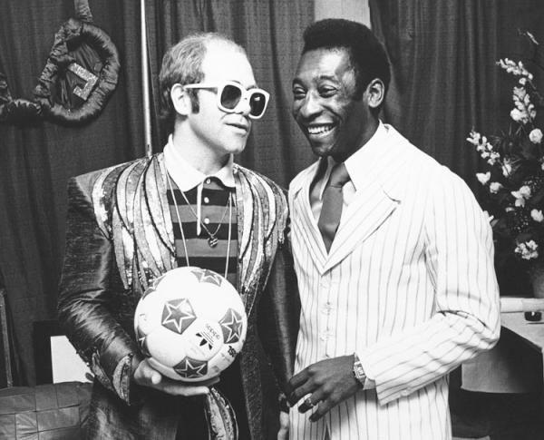 Elton John and Pele :: AP