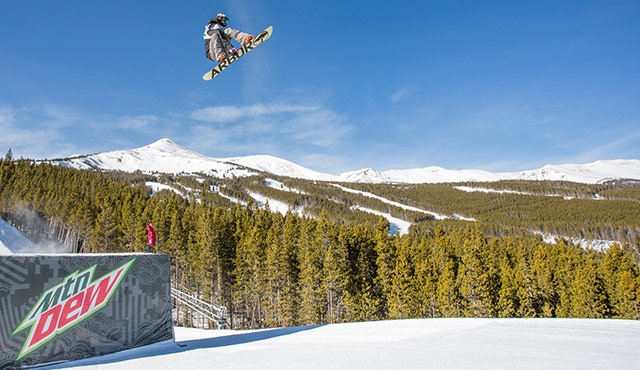 Emil Andre in the men's slopestyle semifinals.