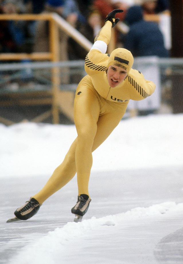 Humble and low-key, Heiden provided the single most outstanding Olympic performance at one Games in history. Five speed skating events, five gold medals, four Olympic records and one world record over a nine-day span in 1980, winning everything at a home Olympics at just 21 years old. And he even slipped in the 1,500 before winning in an Olympic record time. --  Brian Pinelli   (SEE THE COMPLETE LIST OF 50 AT THEACTIVETIMES.COM)