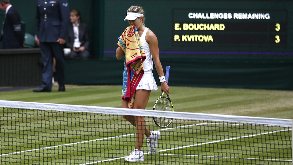 Eugenie Bouchard had little to offer against Petra Kvitova and her powerful play in the Wimbledon final.