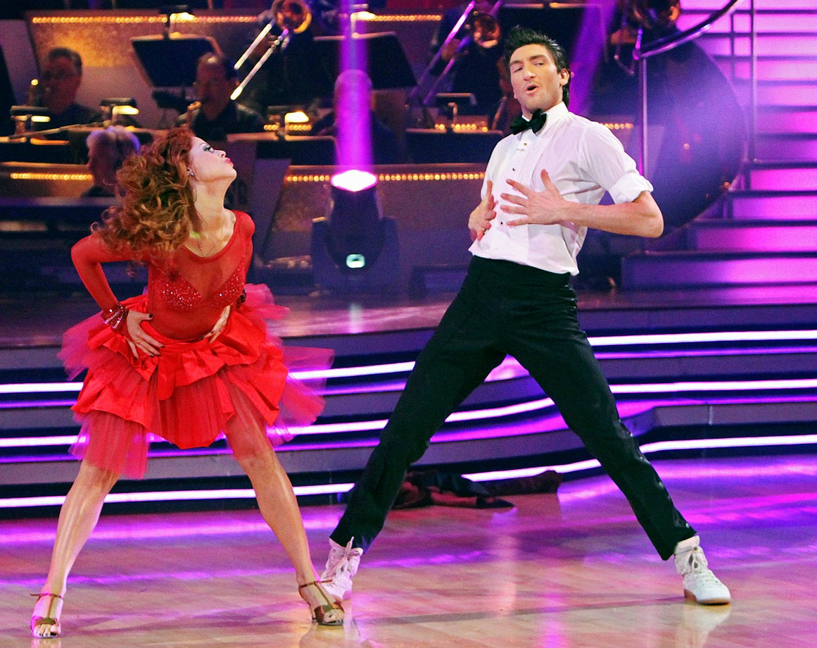 Olympic champion figure skater Evan Lysacek finished in 2nd place with dancing partner Anna Trebunskaya in Season 10.