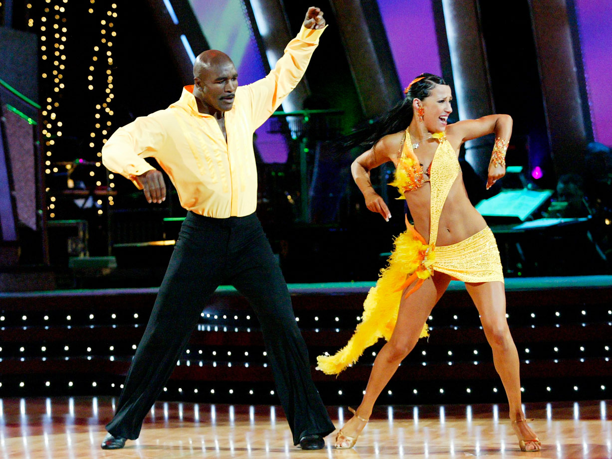Professional boxer Evander Holyfield finished in 5th place with dancing partner Edyta Sliwinska in Season 1.