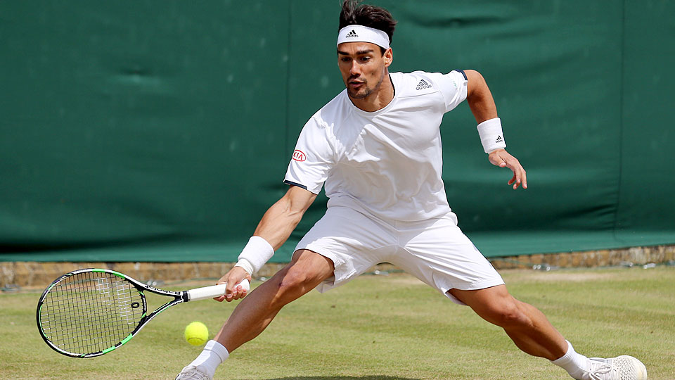 Fabio Fognini lost in the third round of Wimbledon, where he was fined $29,500 for his outbursts.