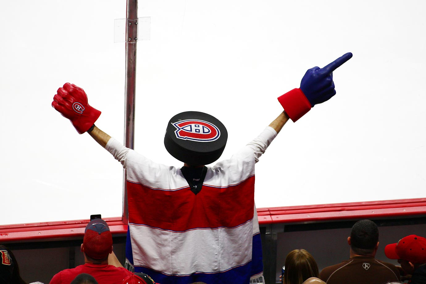 A Montreal Canadiens fan during the first round of the NHL playoffs.