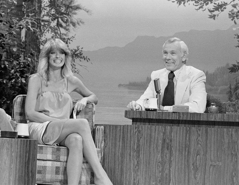 Farrah Fawcett and Johnny Carson :: Getty Images
