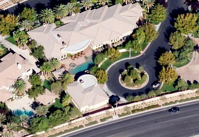 Mayweather purchased this 12,707 sqft. home in Las Vegas for $9.5 million in 2010.