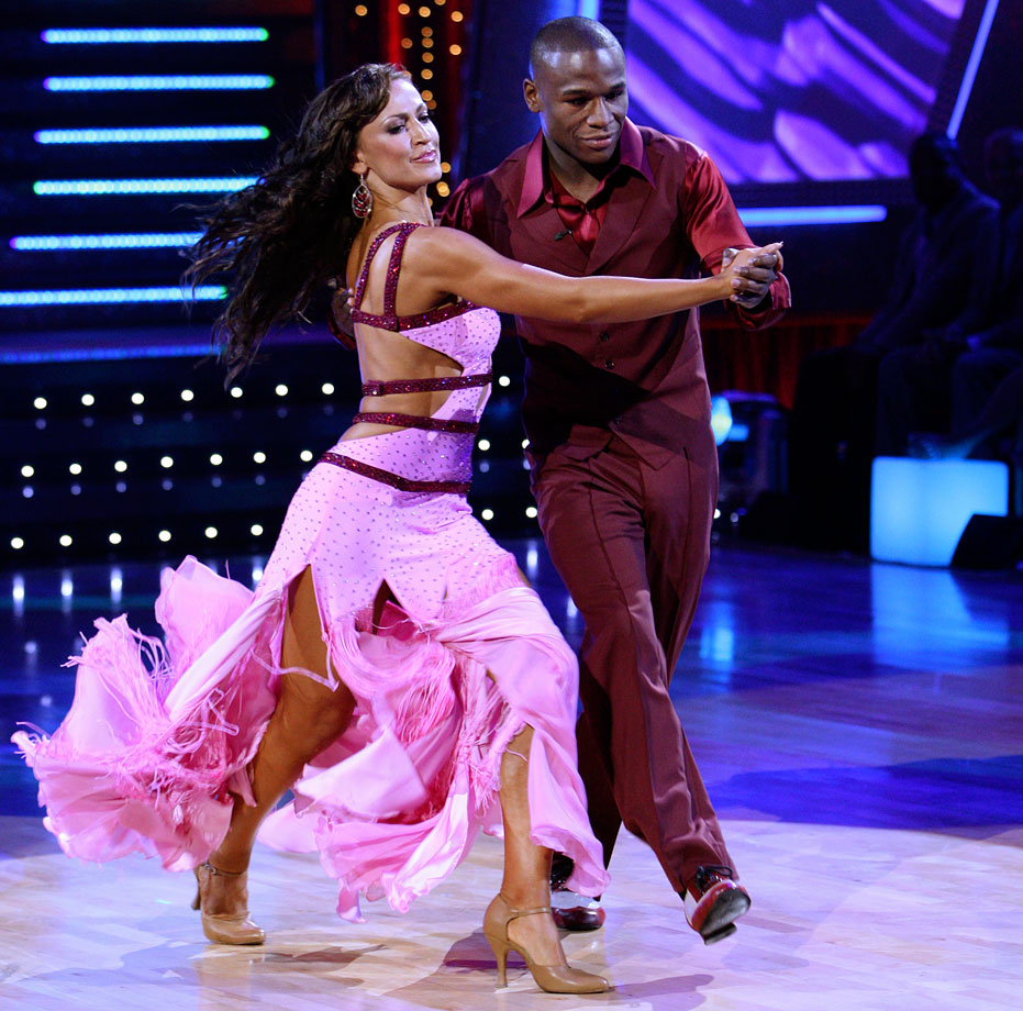 Professional boxer Floyd Mayweather, Jr. finished in 9th place with dancing partner Karina Smirnoff in Season 5.