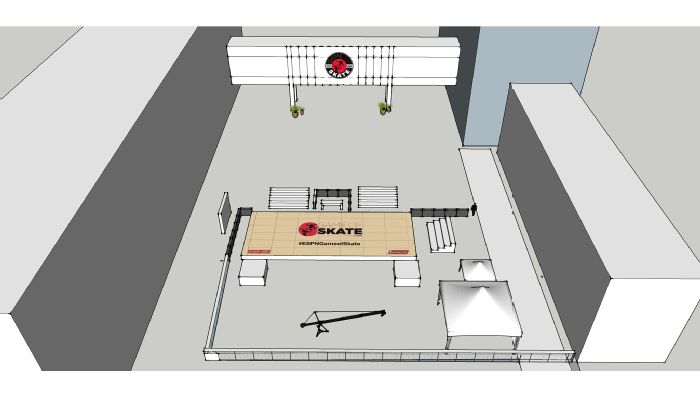 Course rendering for the Game of S.K.A.T.E. at ESPN headquarters in Bristol, Connecticut.