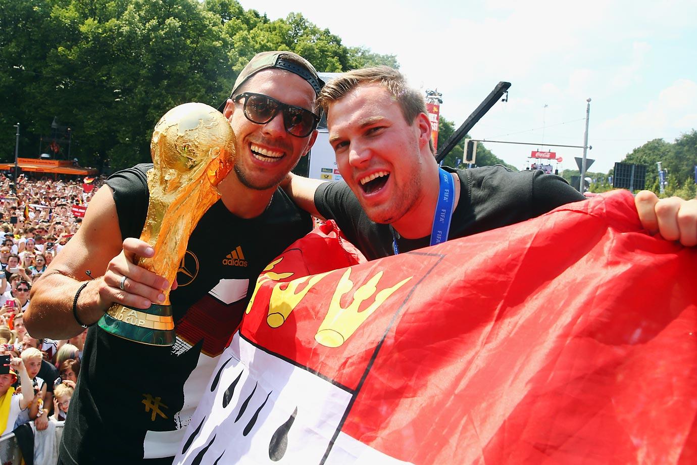 Lukas Podolski and Kevin Grosskreutz.