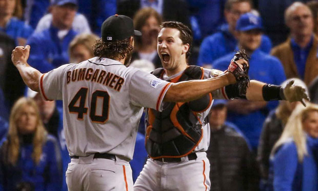 Madison Bumgarner and Buster Posey :: Jed Jacobsohn/SI