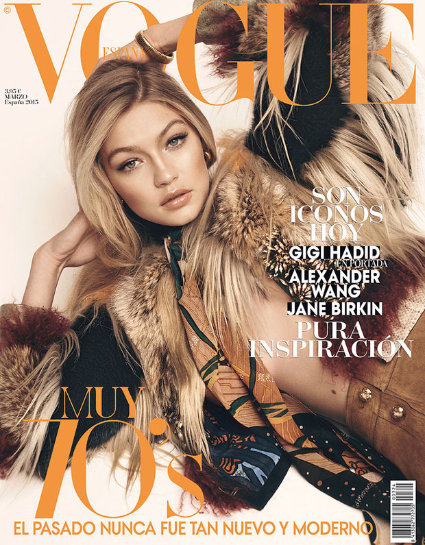 Gigi Hadid for Vogue España, March 2015