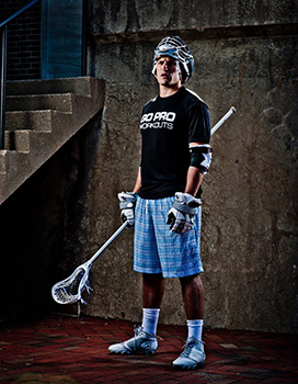 Pro lacrosse player Kyle Hartzell