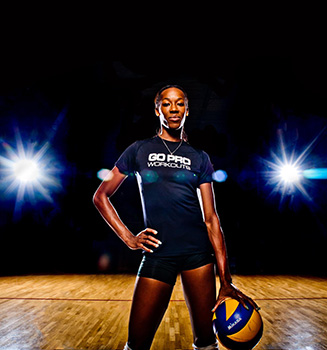 Pro volleyball player Destinee Hooker