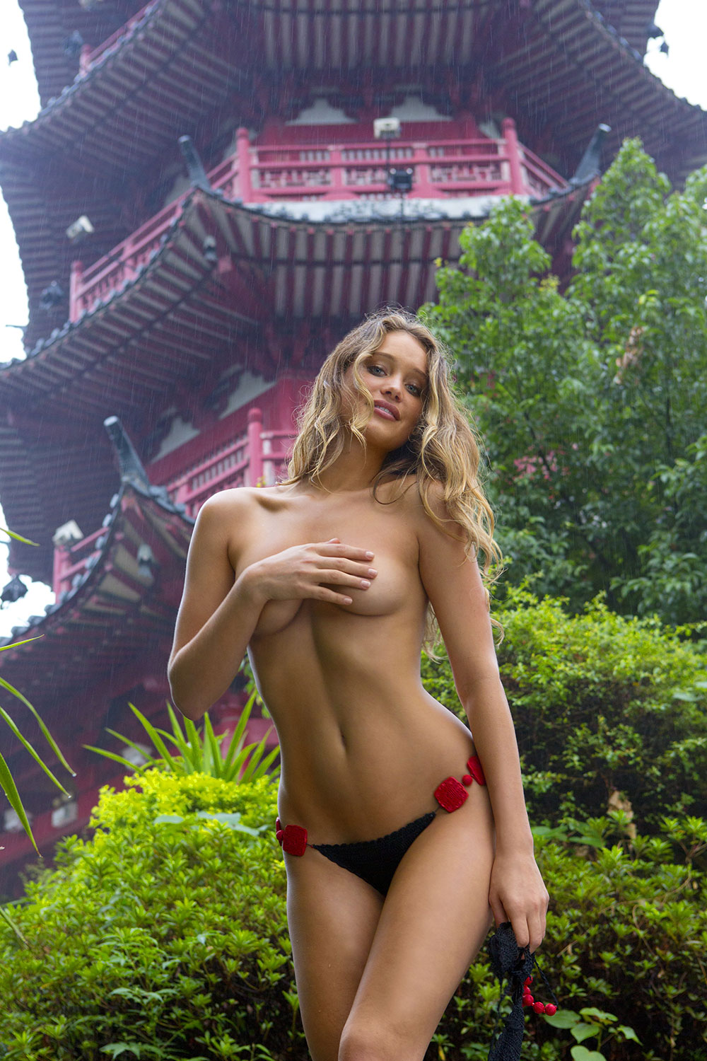 Hannah Davis was photographed by Derek Kettela in China.