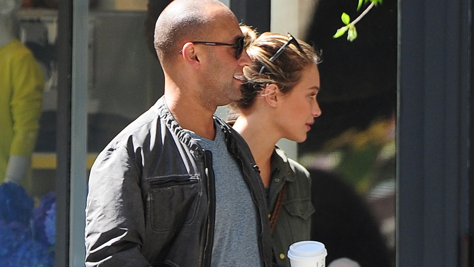 Derek Jeter and Hannah Davis in NYC, 2013