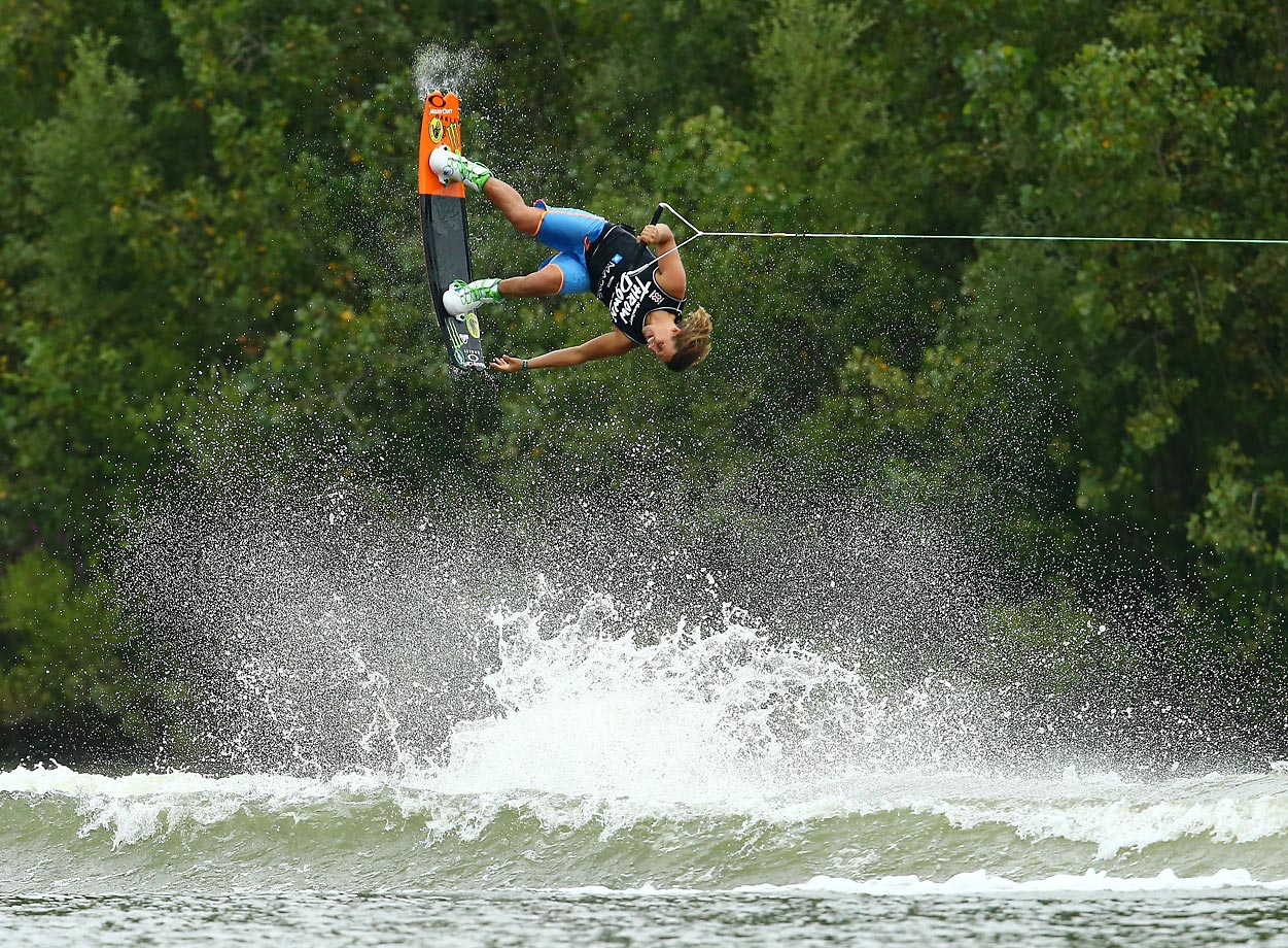 Harley Clifford during the MasterCraft Pro Wakeboard Tour at Millennium Park, Michigan.