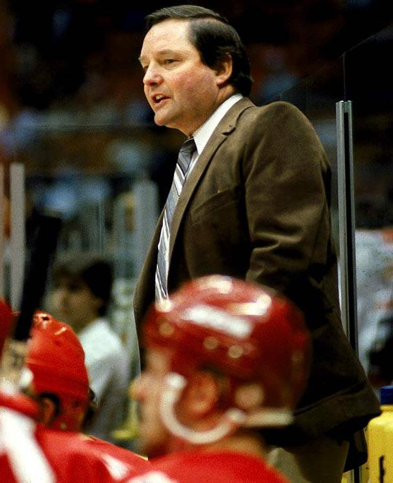 """I know my players don't like my practices, but that's OK because I don't like their games.""—on his Canucks after a loss during the 1981–82 season. Also: ""Last season we couldn't win at home and we were losing on the road. My failure was that I couldn't think of any place else to play."" Also: ""Our system of forechecking is to shoot the puck and leave it there."""
