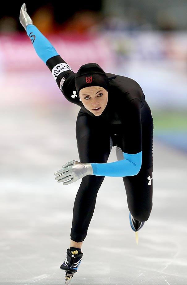 After participating in the Vancouver Olympics in 2010, Richardson took the speedskating world by storm. In a brilliant 2013 campaign, she took home the World Cup overall 1000-meter championship and the World Sprint Championships overall title. Heather Richardson's Facebook page.