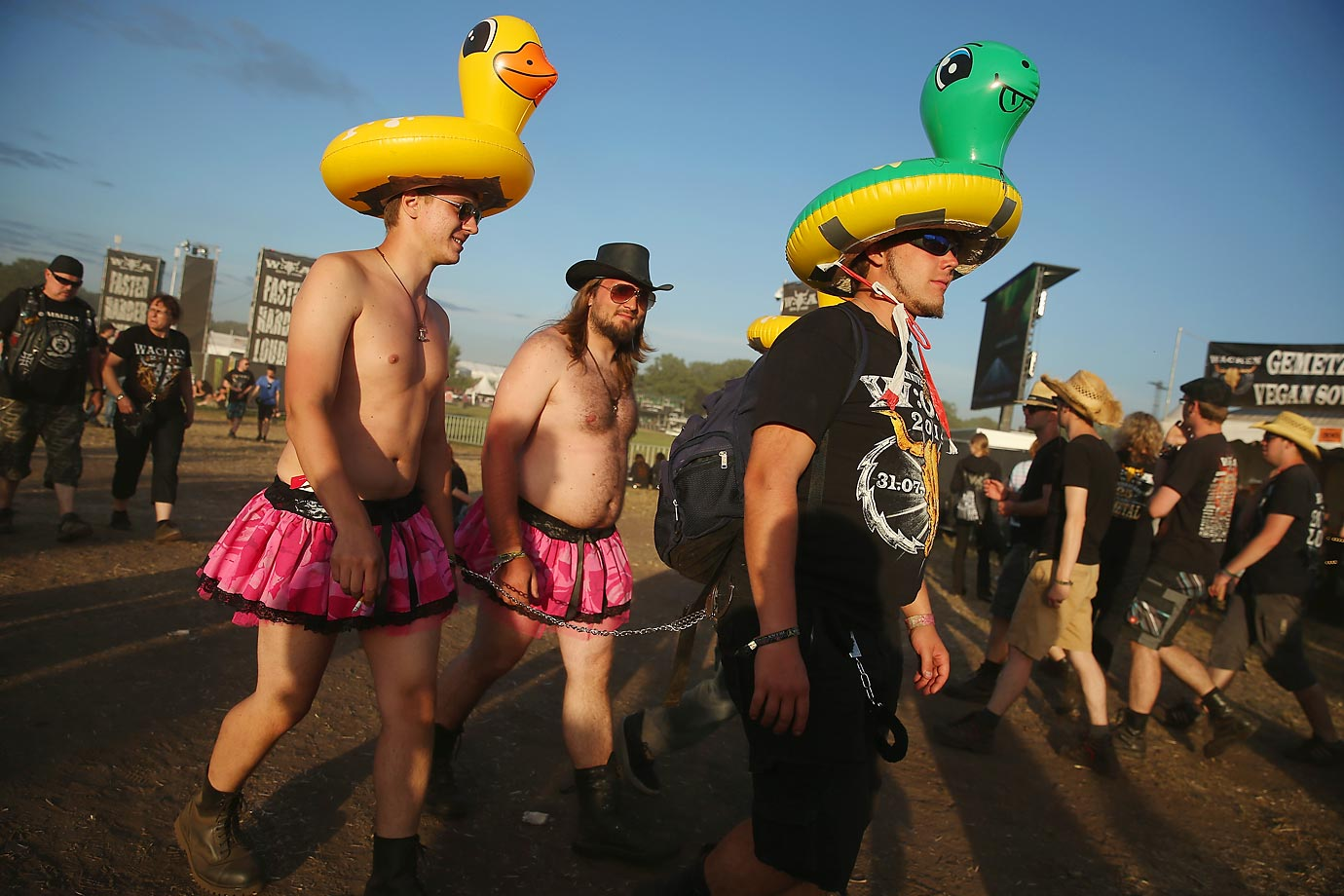 Warning: Head-banging can impair your fashion sense, as evidenced these burghers in Wacken, a village in northern Germany that has hosted the annual four-day festival, which attracts 75,000 heavy metal fans from around the world, since 1990.