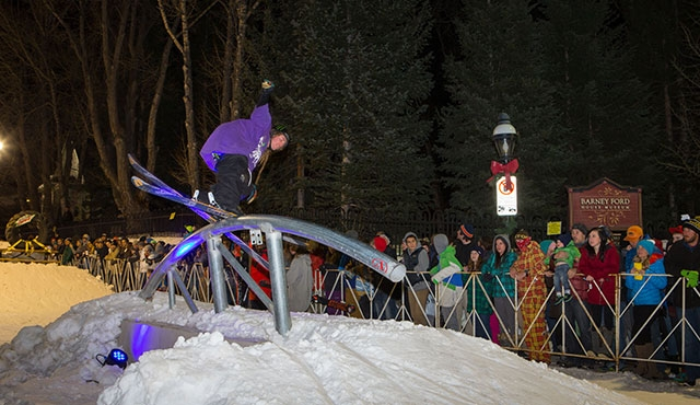 Henrik Harlaut in the men's streetstyle competition.