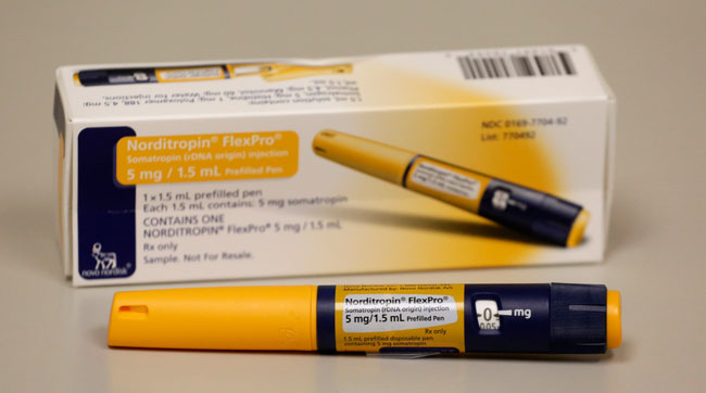 Prescription HGH in an injector pen.