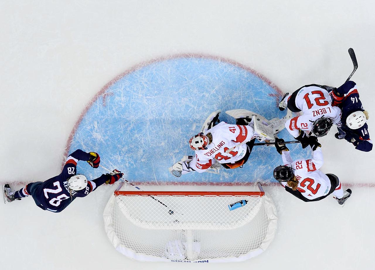 The United States defeated Switzerland 9-0 in its second game at these Olympics.