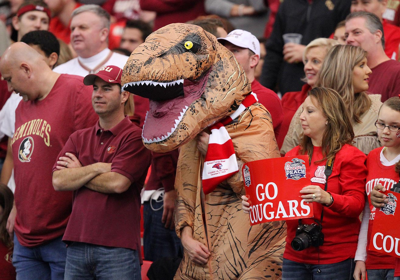 Houston Cougars fans during the Chick-fil-A Peach Bowl.