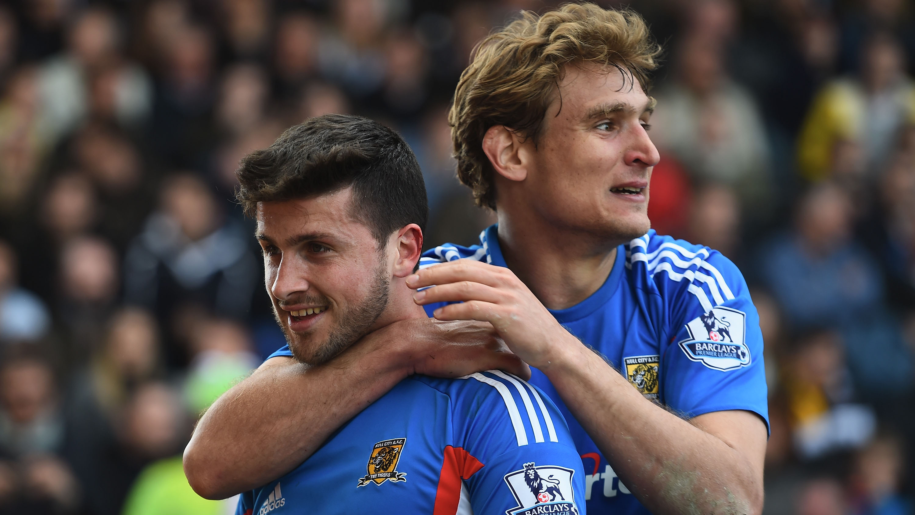 Shane Long and Nikica Jelavic