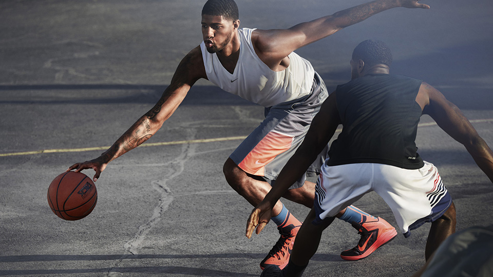Indiana Pacers forward Paul George sporting the new Nike Hyperdunk.