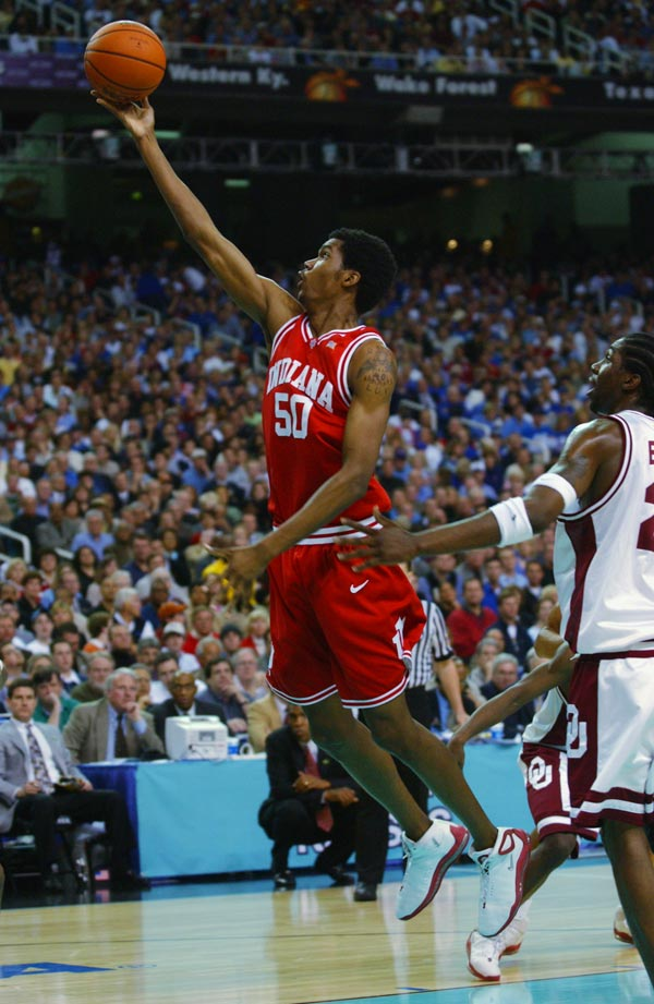 2002: No. 5 Indiana defeats No. 2 Oklahoma 73-64 in a national semifinal.