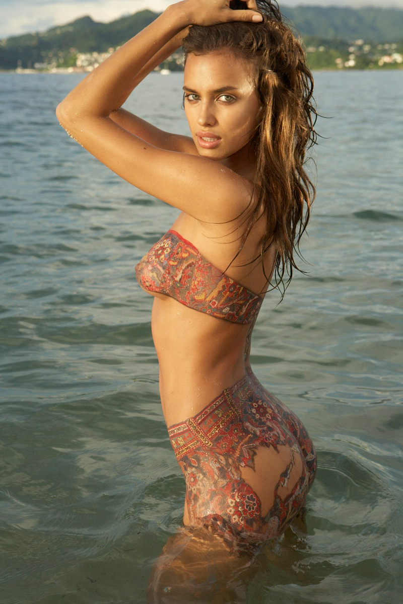 Irina Shayk :: Body paint, SI Swimsuit 2009