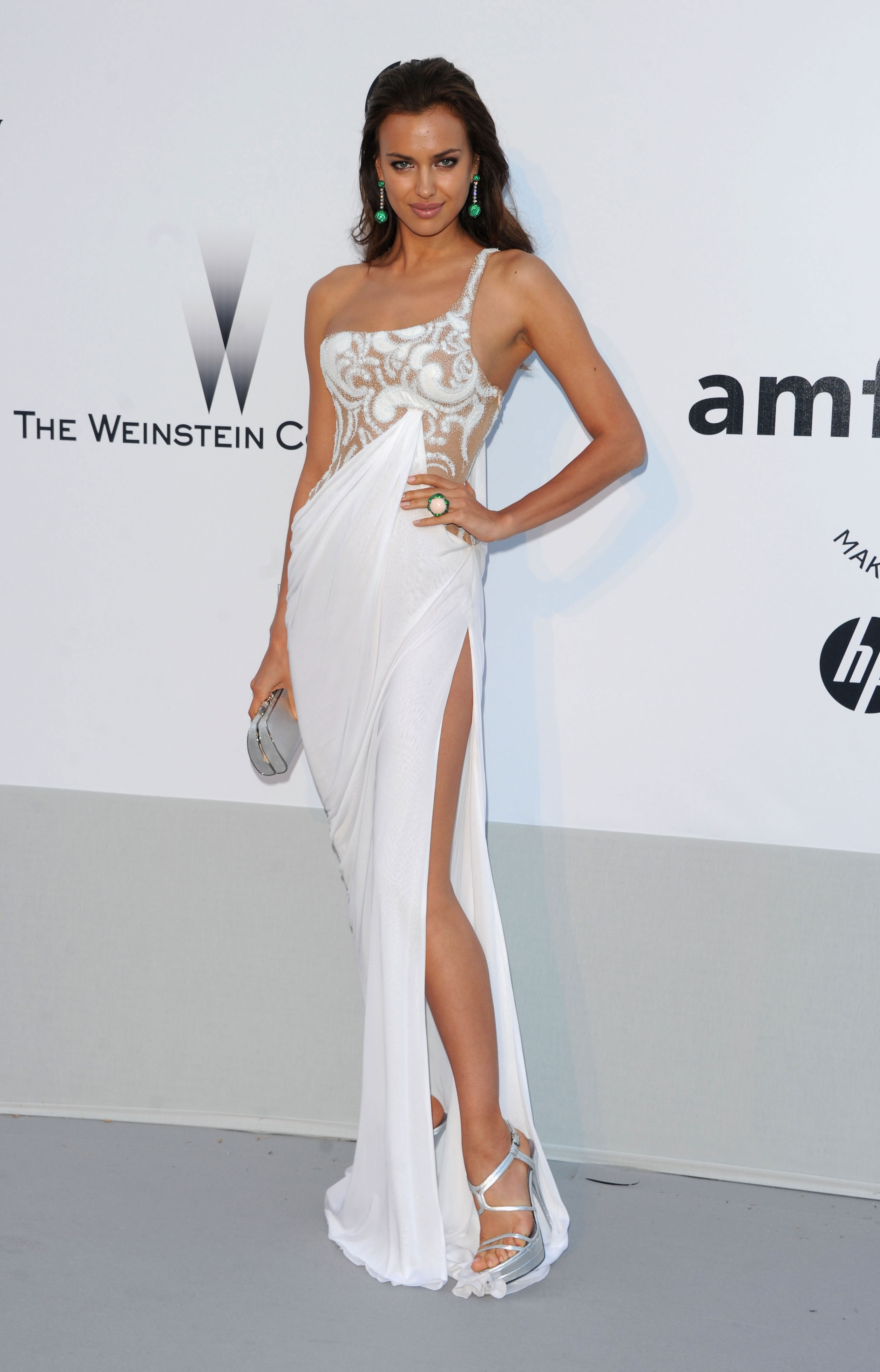Irina Shayk attends amfAR's Cinema Against AIDS Gala during the 64th Annual Cannes Film Festival.