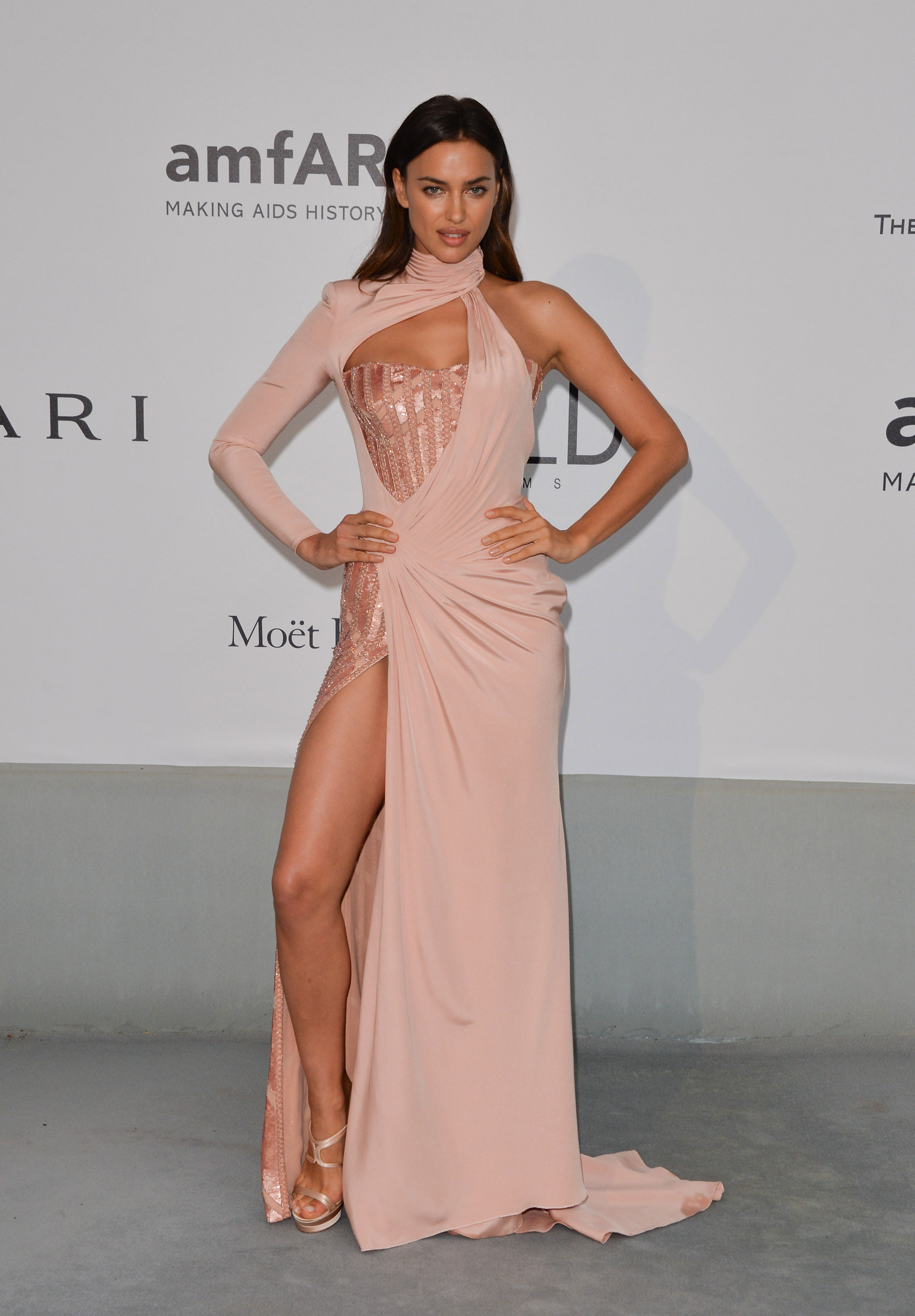 Irina Shayk attends amfAR's 21st Cinema Against AIDS Gala at the 67th Annual Cannes Film Festival.