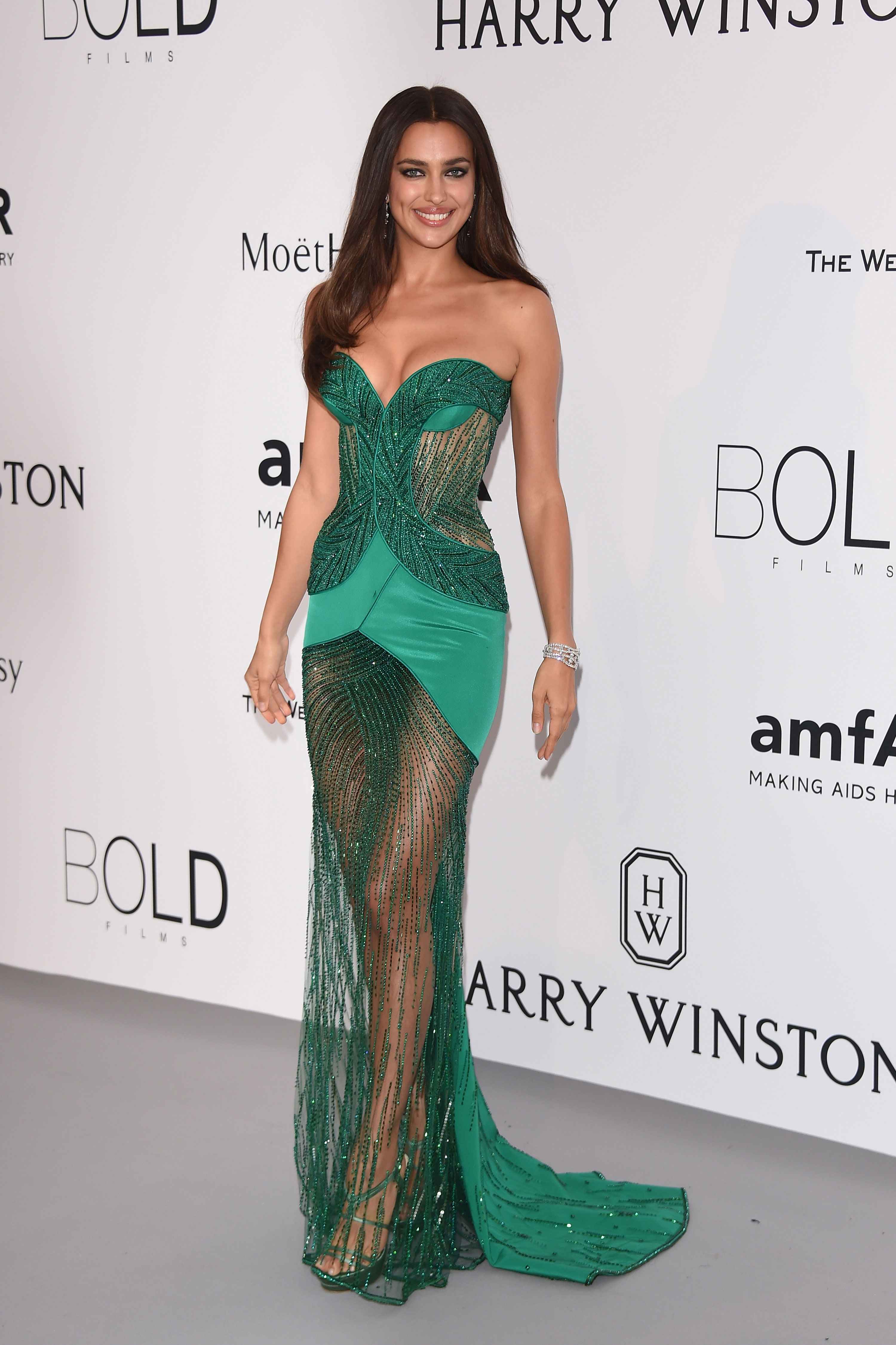 Irina Shayk attends amfAR's 22nd Cinema Against AIDS Gala at the Cannes Film Festival.