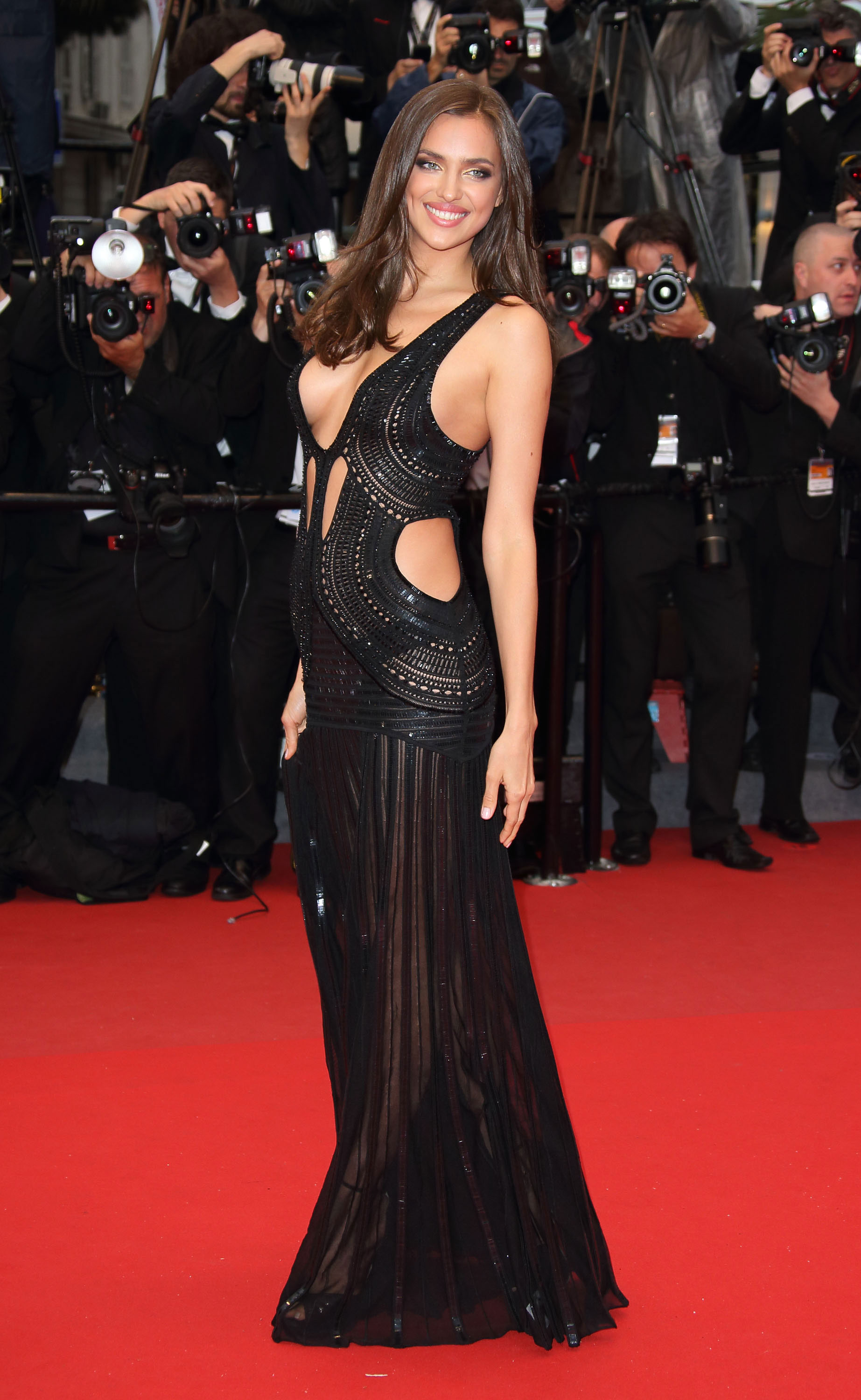Irina Shayk attends the Premiere of 'All Is Lost' at The 66th Annual Cannes Film Festival.