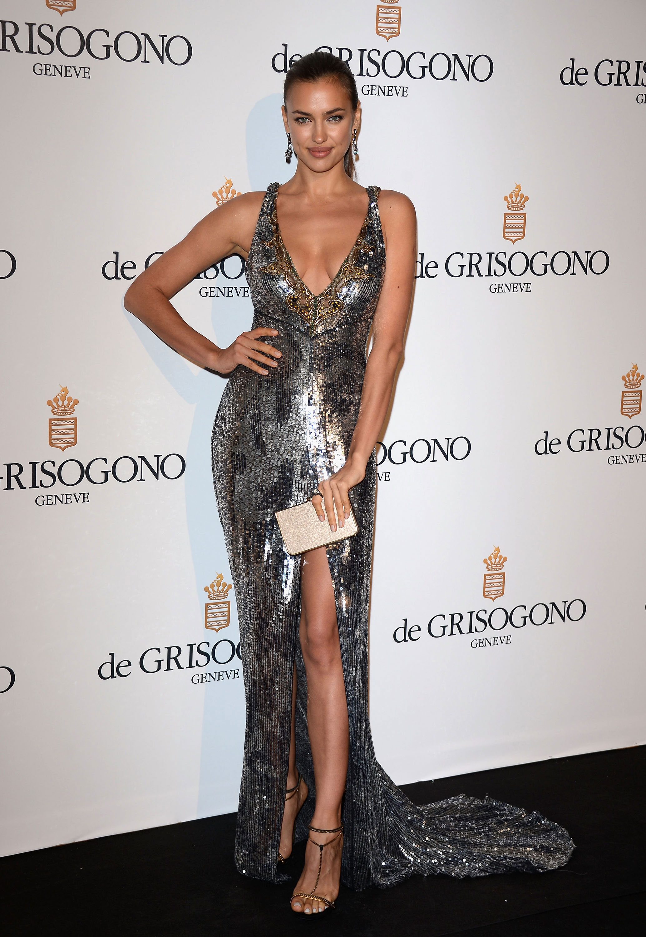 Irina Shayk attends the de Grisogono Party during the 65th Annual Cannes Film Festival.