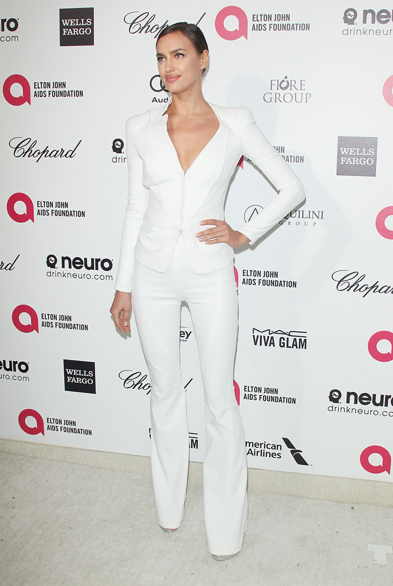 Irina Shayk attends the Elton John AIDS Foundation's 23rd annual Academy Awards Viewing Party